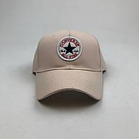 Кепка бейсболка Converse с нашивкой (молочная), фото 1