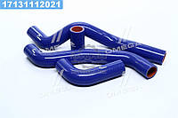 ⭐⭐⭐⭐⭐ Патрубок радиатора ВАЗ 21082 инжектор (комплект 4 шт.силикон) (TEMPEST)  TP.1356