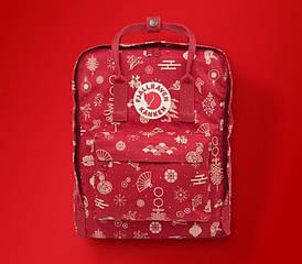 Городской Рюкзак Fjallraven Kanken 16л Classic Red Winter Красный