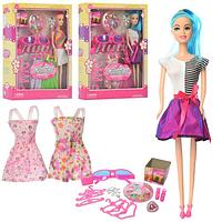 Куколка с длинными голубыми волосами WX 36-8