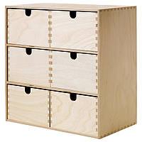 IKEA MOPPE (602.163.56) Миникомод, березовая фанера, 31x18x32 см
