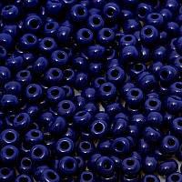 Чешский бисер Preciosa Ornela №33080 (натуральный, тёмно-синий, керамический) 10/0