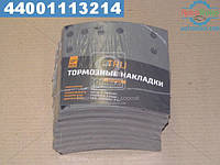 ⭐⭐⭐⭐⭐ Накладка тормоза (комплект на ось) 419х178 (отверстий 6,35 мм ) 2-й ремонт ROR TA, FRUEHAUF (производство  TRU)  1903602DP