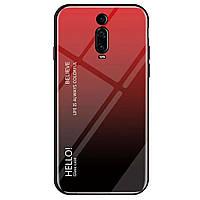 TPU+Glass чехол Gradient HELLO для Xiaomi Redmi K20 / K20 Pro / Mi9T / Mi9T Pro