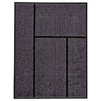 IKEA KOGE (302.879.39) Придверный коврик, серый, черный, 69x90 см