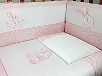 """Детский постельный комплект Veres """"Happy Banny pink"""" 7 единиц розовый"""