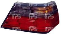 Стекло заднего фонаря Mercedes E-Class W124 '84-96 левое, седан, красно-дымч. (DEPO)