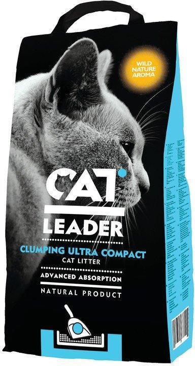 Наповнювач для туалетів кішок Cat Leader Злипання Ultra Compact with Wild Nature ультра-комкующийся 10 кг