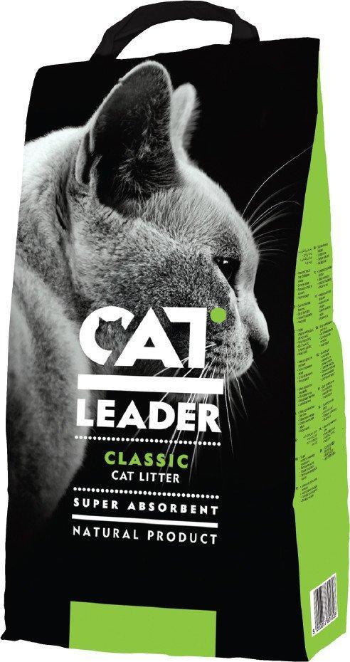Наполнитель для туалетов кошек Cat Leader Classic супер впитывающий 10 кг