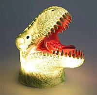 """Силиконовый ночник светильник ETEYV """"Динозавр Тирекс"""" подарок для детей, 7 цветов"""