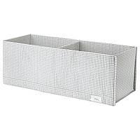 IKEA STUK (203.095.88) Ящик с отделениями, белый / серый, 20х51х18 см