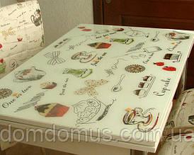 """Комплект обідній меблів """"Latte"""" (стіл ДСП, гартоване скло + 4 стільця) Mobilgen, Туреччина"""