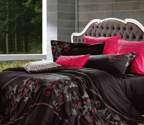Комплект постельного белья Love You вышивка MX019 евро- 4 наволочки, фото 2