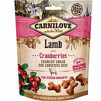 Carnilove Dog Лакомства Crunchy Snack для собак с ягненком и клюквой 200 г