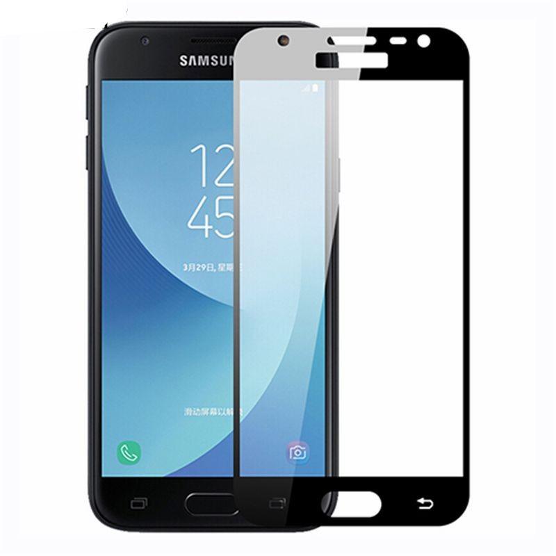 Защитное цветное стекло Mocolo (full glue) на весь экран для Samsung Galaxy J2 Core (2018)