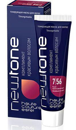 Тонирующие маски для волос Estel Newtone  7/56 (русый красно-фиолетовый) 60 мл