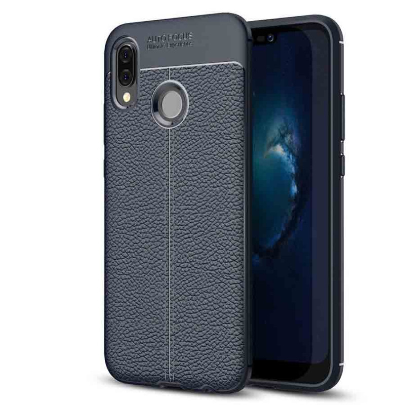 TPU чехол фактурный (с имитацией кожи) для Huawei P20 Lite