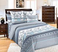 """Комплект постельного белья """"Лапландия синий"""", перкаль (Полуторный на резинке)"""