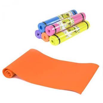 Коврик для йоги, 6 мм (оранжевый) C36548