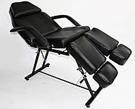 Кресло - кушетка педикюрная с раздельной подножкой  модель 240 Черный