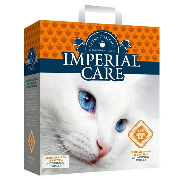 Наповнювач для туалетів кішок Imperial Silver Care Ions ультра-комкующийся антибактеріальний 10 кг (10 л)