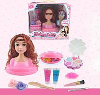 Голова-манекен куклы для причесок и макияжа с аксессуарами 704148