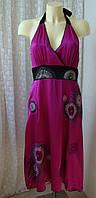 Платье модное летнее шелковое шикарное вышивка бренд Monsoon р.48