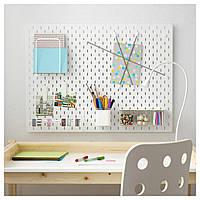 IKEA SKADIS (092.171.75) комбинация перфорированных досок, белая, 76x56 см