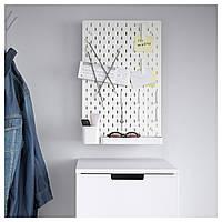 IKEA SKADIS (392.165.89) комбинация перфорированных досок, белая, 36x56 см