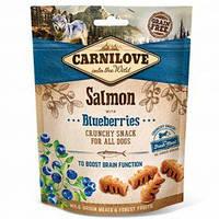 Carnilove Dog Лакомства Crunchy Snack для собак с лососем и черникой 200 г