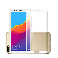 Защитное цветное стекло Mocolo (full glue) на весь экран для Huawei Y5 (2018)/Y5 Prime 2018/Honor 7A