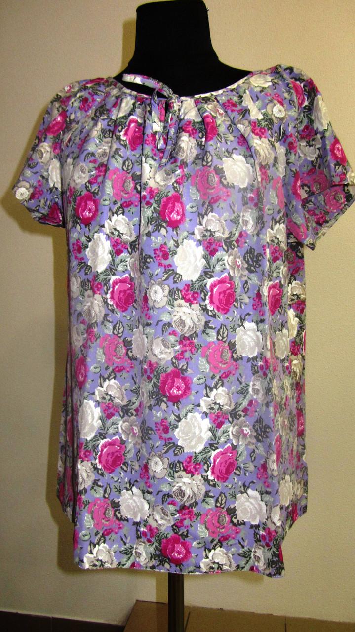 Купить блузку, тонкая вискоза , холодок ,100% вискоза , 50,52,54,56, БЛ 037-3