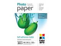 Фотобумага ColorWay наклейка матовый (Формат: A4 (210x297 mm), Плотность: 120 г / м2 Количество в упаковке: 50