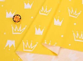 Сатин-твил Короны на желтом