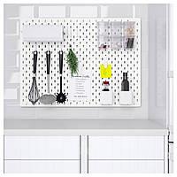 IKEA SKADIS (292.170.61) комбинация перфорированных досок, белая, 76x56 см