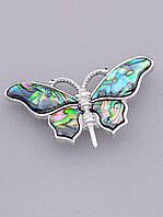 Брошь Бабочка Галиотис 55x35мм. 1082365