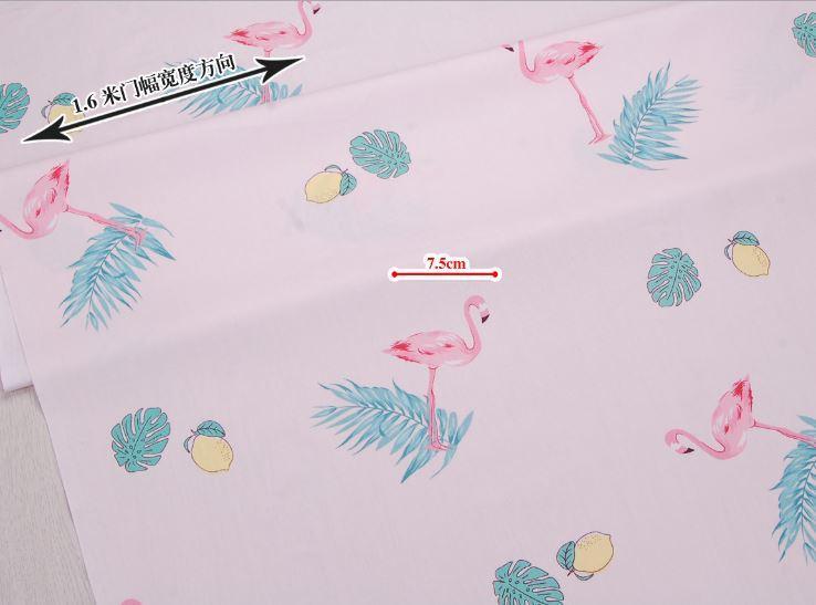 Сатин-твил Фламинго на розовом