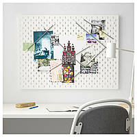 IKEA SKADIS (492.173.81) комбинация перфорированных досок, белая, 76x56 см