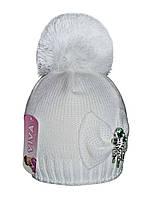 Шапка для девочки подростка зимняя  м 9157, разные цвета