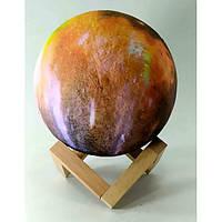 Ночник Луна Led, сенсорный переключатель цветов (d-15 см)