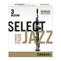 D/'Addario Select Jazz Soprano Saxophone Reeds Sampler Pack 4 Reeds 2M 2H