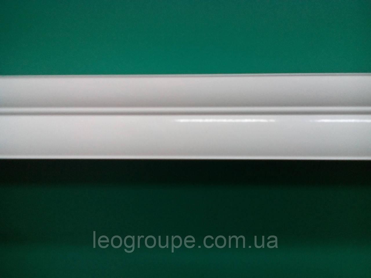 Карниз белый двойной алюминий-2м