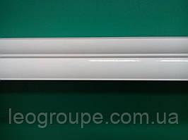 Карниз двойной белый алюминий-2,5м