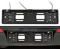 Рамка для номерного знака с камерой заднего вида и парктроником 3 в 1 UKC Black