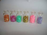 Украшения для ногтей сердцами и звездами в бутылке, 12шт