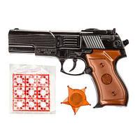 Пистолет с пистонами и значком 124/W88