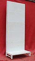 Торговые стеллажи перфорированные «Авилон» 235х95 см. (Украина), белый, Б/у, фото 1