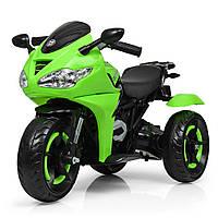 Детский трехколесный электромотоцикл Bambi M 3683L-5 зеленый