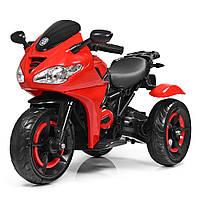 Детский трехколесный электромотоцикл Bambi M 3683L-3 красный
