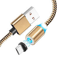 Магнитный кабель micro USB для Android M3 Rose Gold